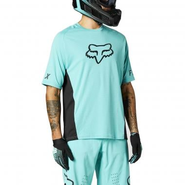 Maillot FOX DEFEND Manches Courtes Turquoise 2021