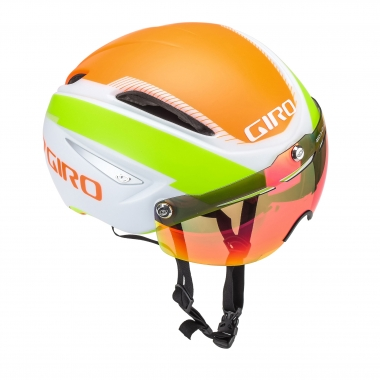 Casque GIRO AIR ATTACK SHIELD Blanc/Orange/Vert