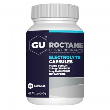 Caixa de 50 Comprimidos de Complemento Alimentar GU ENERGY ROCTANE ELECTROLYTE