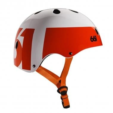 Casque SIXSIXONE 661 DIRT LID Orange/Blanc