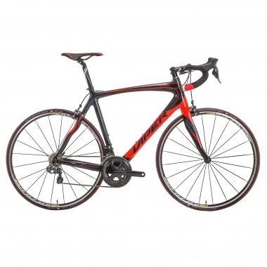 Bicicleta de carrera VIPER GALIBIER Shimano Ultegra Di2 6870 34/50 Negro/Rojo 2016