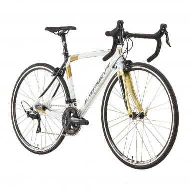 Bicicleta de carrera VIPER STELVIO Shimano 105 R7000 34/50 Blanco/Negro/Oro