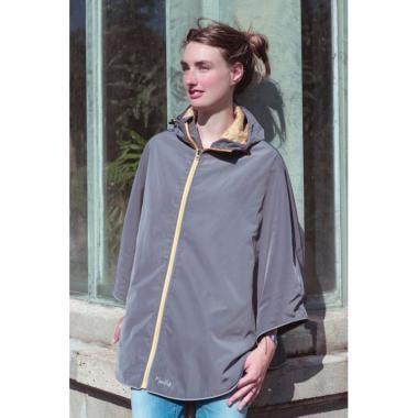 MOONRIDE Women's Poncho Reflective Grey
