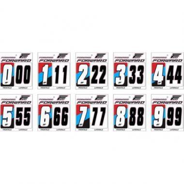 Kit de Números de Placa FORWARD Branco