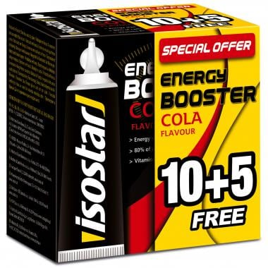 Pack de 10+5 Gels Énergétiques ISOSTAR ENERGY BOOSTER (20 g)