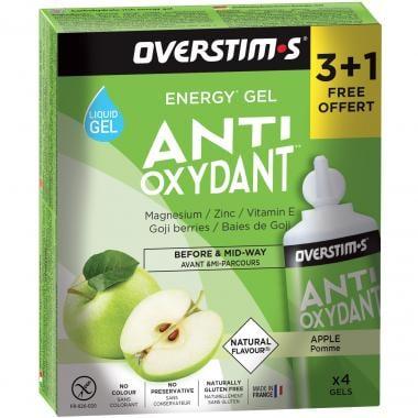 Pack de 3+1 Gels Énergétiques OVERSTIM.S ANTIOXYDANT (30 g)