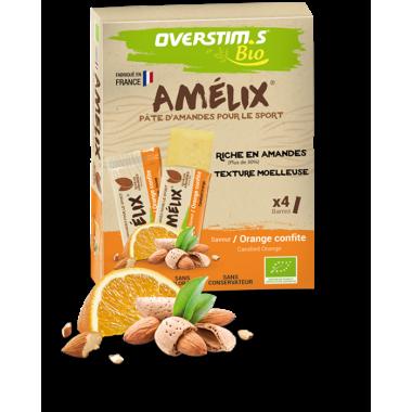 Pack de 4 Barres Énergétiques OVERSTIM.S AMELIX BIO (25 g)
