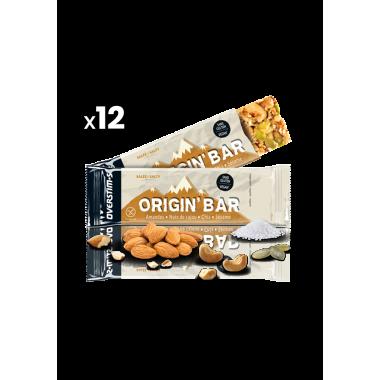 Pack de 12 Barres Énergétiques OVERSTIM.S ORIGIN BAR VEGAN SALTY (40 g)