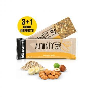 Pack de 3+1 Barres Énergétiques OVERSTIM'S AUTHENTIC BAR  Banane-Noisette-Amande (65 g)
