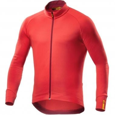 Maillot MAVIC AKSIUM THERMO Manches Longues Rouge 2016