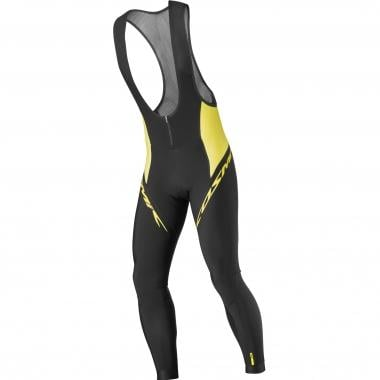 Culotte largo con tirantes MAVIC COSMIC ELITE THERMO Negro/Amarillo