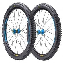 """Par de ruedas MAVIC XA ELITE 27,5"""" Eje delantero 15x110 mm - Trasero 12x148 mm Boost + Cubiertas Quest Pro 2,4"""" Negro/Azul"""