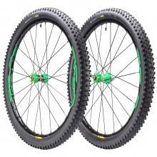 """Par de ruedas MAVIC XA ELITE 29"""" Eje delantero 15x110 mm - Trasero 12x148 mm Boost XD + Cubiertas Quest Pro 2,35"""" Negro/Verde"""