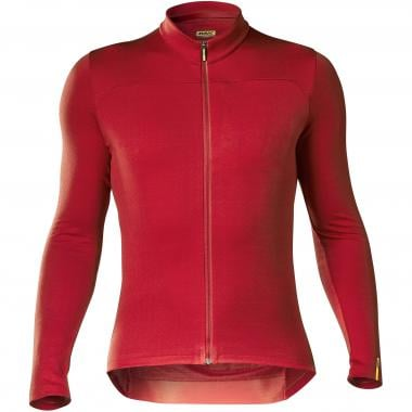 Maillot MAVIC ESSENTIAL MERINO Manches Longues Rouge 2019