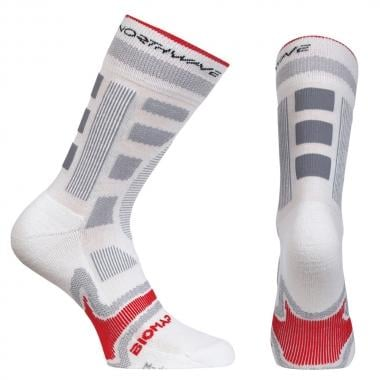 Chaussettes NORTHWAVE EVOLUTION Blanc/Rouge