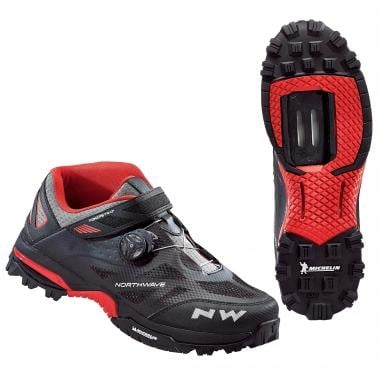 Zapatillas MTB NORTHWAVE ENDURO MID Negro/Rojo