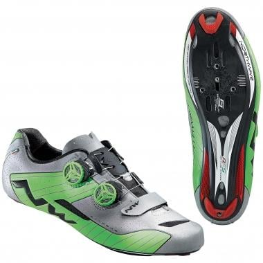Chaussures Route NORTHWAVE EXTREME Argent/Vert 2016