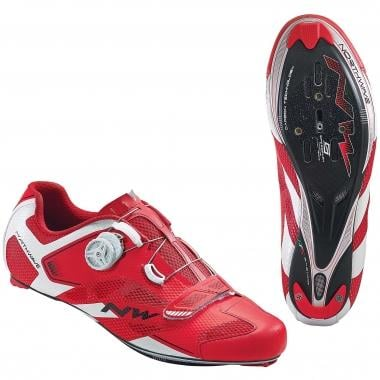 Chaussures Route NORTHWAVE SONIC 2 CARBON Rouge/Blanc 2016