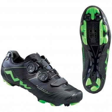 NORTHWAVE EXTREME XCM MTB Shoes Black/Green 2016