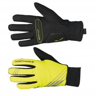 Guantes NORTHWAVE POWER 2 GEL Amarillo fluorescente/Negro