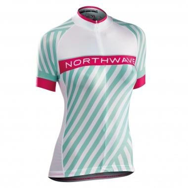 Maillot NORTHWAVE LOGO 3 Femme Manches Courtes Blanc 2017