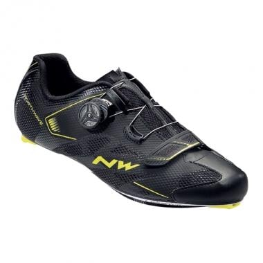 Zapatillas Carretera NORTHWAVE SONIC 2 PLUS Negro/Amarillo 2017