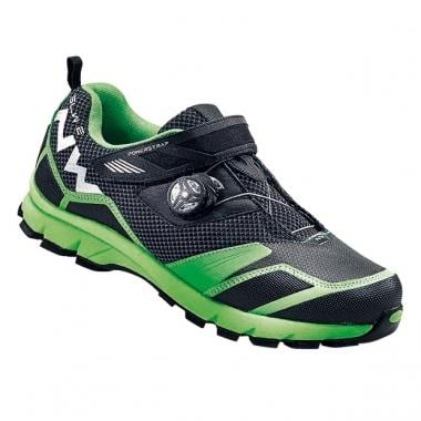 Zapatillas NORTHWAVE MISSION PLUS Negro/Verde 2017