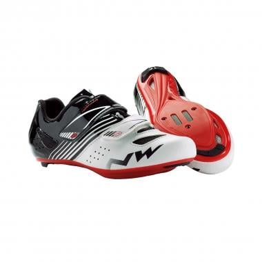 Chaussures Route NORTHWAVE TORPEDO JUNIOR Enfant Blanc/Noir/Rouge