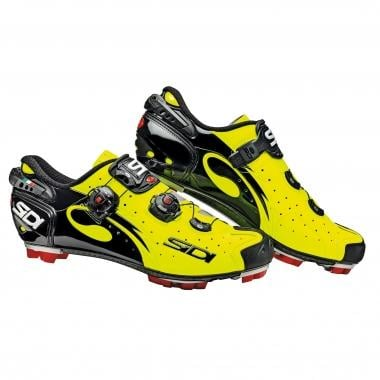 SIDI DRAKO CARBON SRS MTB Shoes Black/Vernice Neon Yellow
