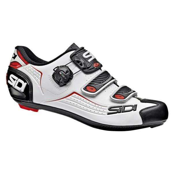 e8492a1294e Chaussures Route SIDI ALBA Blanc Noir 2018 - Probikeshop