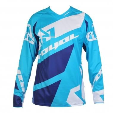 Maillot ROYAL RACING VICTORY RACE Mangas largas Azul/Blanco 2016