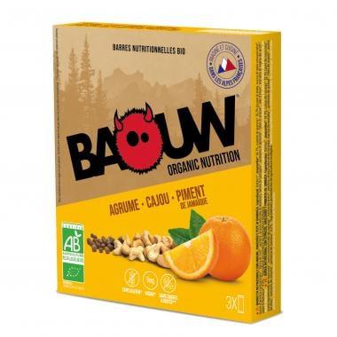 Pack de 3 Barres Énergétiques BAOUW! BIO Recette aux Fruits (Agrume - Cajou - Piment de Jamaïque)