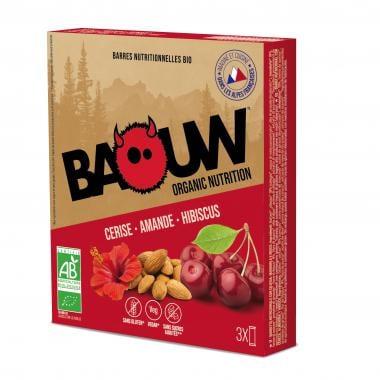 Pack de 3 Barres Énergétiques BAOUW! BIO Recette aux Fruits (Cerise - Amande - Hibiscus)