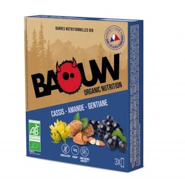 Pack de 3 Barres Énergétiques BAOUW! BIO Recette aux Fruits (Cassis - Amande - Gentiane)
