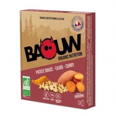 Pack de 3 Barres Énergétiques BAOUW! BIO Recette Salée (Patate douce - Cajou - Curry)