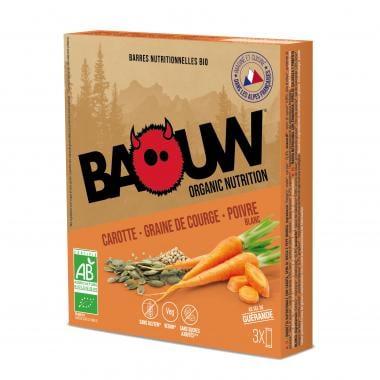 Pack de 3 Barres Énergétiques BAOUW! BIO Recette Salée (Carotte - Graine de courge - Coco)