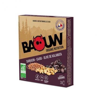 Pack de 3 Barres Énergétiques BAOUW! BIO Recette Salée (Sarrasin - Cajou - Olive de Kalamata)