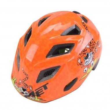 Casque MET ELFO Enfant Orange Léopard