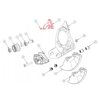 Guide Supérieur pour Guide-Chaîne E-THIRTEEN TRS+ Dual Blanc #CGW.TRP-D.UNIA.W