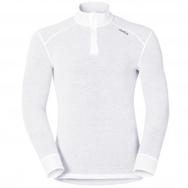 T-Shirt ODLO WARM ZIP Manches Longues Blanc
