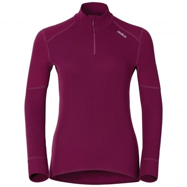 ODLO X-WARM ZIP Women s Long-Sleeved Baselayer Jersey Purple ... a4730fc9e