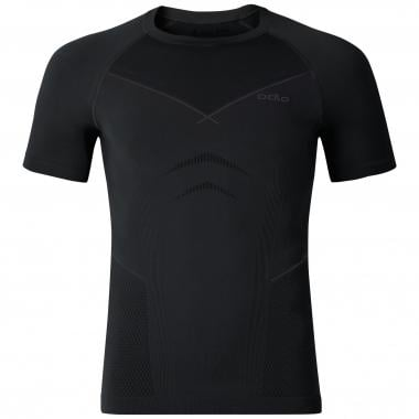 T-Shirt ODLO EVOLUTION WARM Maniche Corte Nero/Grigio