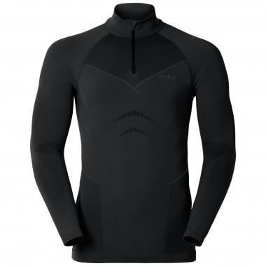 T-Shirt ODLO EVOLUTION WARM Manches Longues Col Zip Noir/Gris