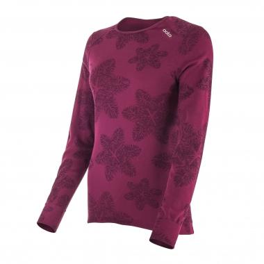 T-Shirt ODLO GOD JUL Donna Maniche Lunghe Viola