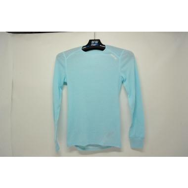CDA - T-Shirt ODLO WARM Femme Manches Longues Bleu Ciel Taille XS