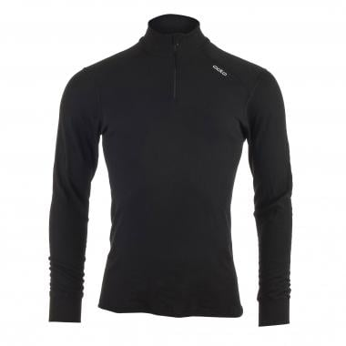 T-Shirt ODLO WARM Manches Longues Col Zip Noir