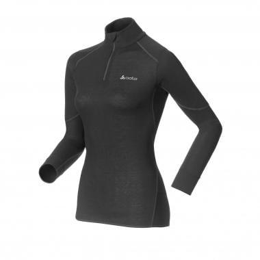 T-Shirt Chaud ODLO X WARM Femme Manches Longues Col Zipé Noir