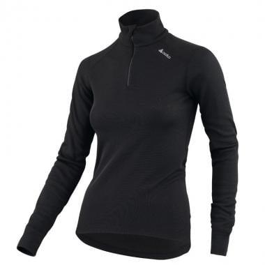 Sous-Vêtement Technique ODLO WARM Femme Manches Longues Col Zip Noir
