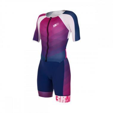 Trifonction Z3R0D RACER TT Femme Manches Courtes Bleu/Rose 2021