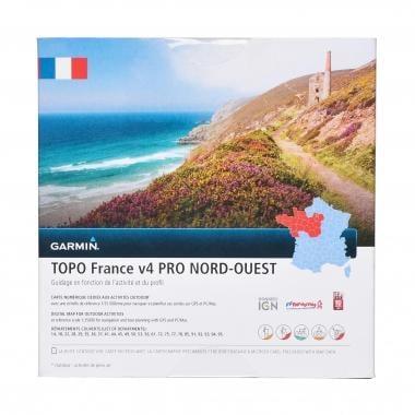 Carta Topográfica GARMIN para GPS TOPO França, Noroeste V4 Pro